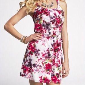 Express Floral Ruffle Dress